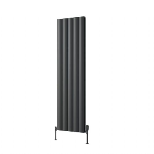 Reina Belva Single Horizontal Designer Radiator - 1800mm High x 412mm Wide - White